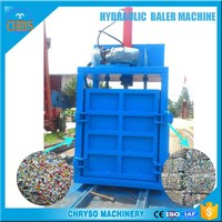 Plastic bottles vertical hydraulic baler,baling press,aluminum can baler for sale