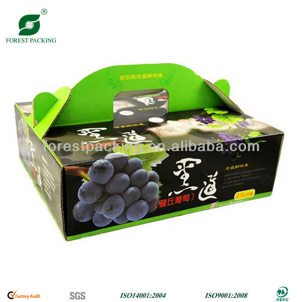 GRAPE PAPER HANDLE PACKING BOX
