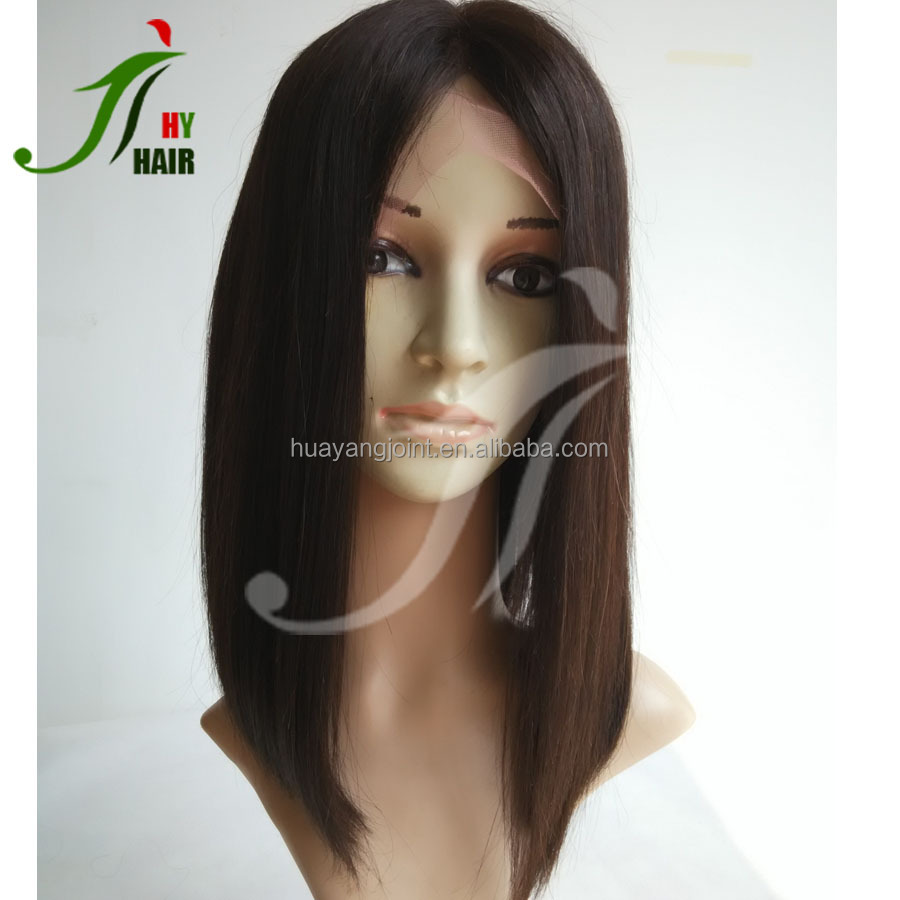 Fashion Middle Parting Natural Black Wig Short Bob Wigs for Black Women Lace Front Bob Wig Human Hair