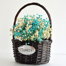 2017 home decoration Flower Girl Basket wicker gift baskets