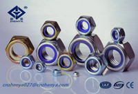 promotional titanium nylon lock nut from fastener manufacture in China