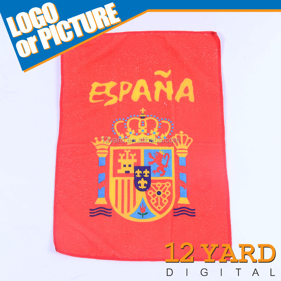 Custom printed spanish flag kitchen towels gym sport swimming towel