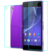 2015 Newest 0.33mm front and back tempered glass screen protector for Sony Xperia Z2