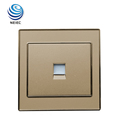 Gold color Acrylic material Telephone Wall socket