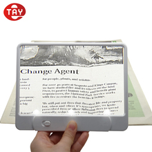 3X LED Light Slim Book Magnifier with 3 Built-In LED Lights for Reading
