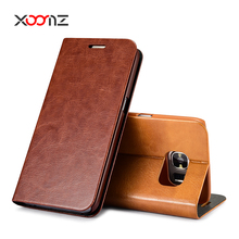XOOMZ PU Leather Case for Samsung Galaxy S7 Flip Wallet Cover with Card Holder Stand Function