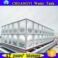 Elevated galvanized steel bolted water tank, pressure water storage tank