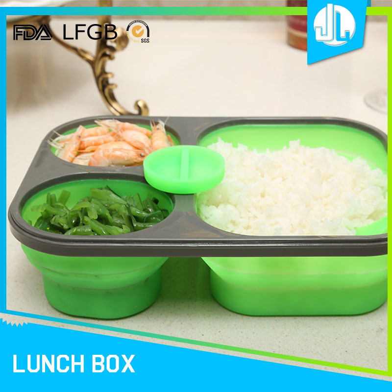 microwaveable design cheap silicon leakproof bento divided folding lunch boxes buy bento. Black Bedroom Furniture Sets. Home Design Ideas