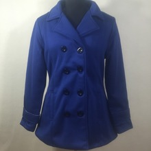 Women's mid-length long fleece coat