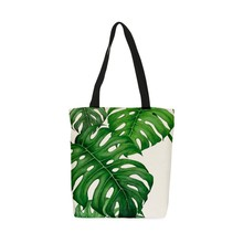 Qetesh Promotional Fashion Cotton Canvas Beach Shopping Tote Bag