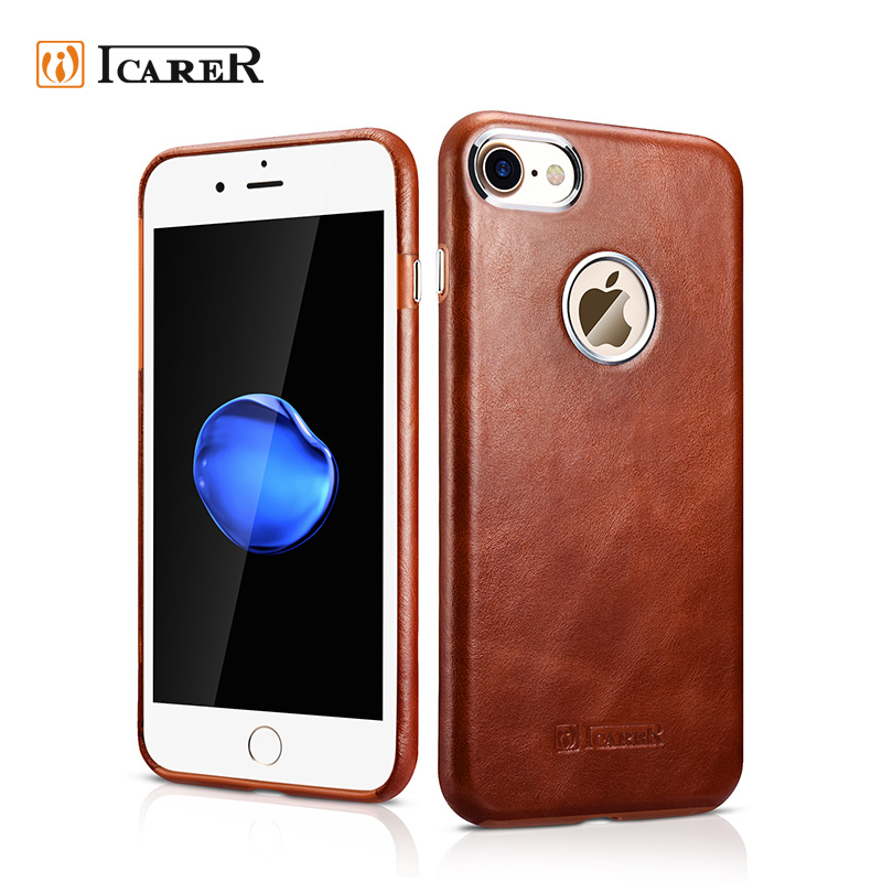 ICARER Premium Genuine Leather Phone Case for iPhone 7 Ultra Thin Back Cover Mobile skin for iPhone 7 plus