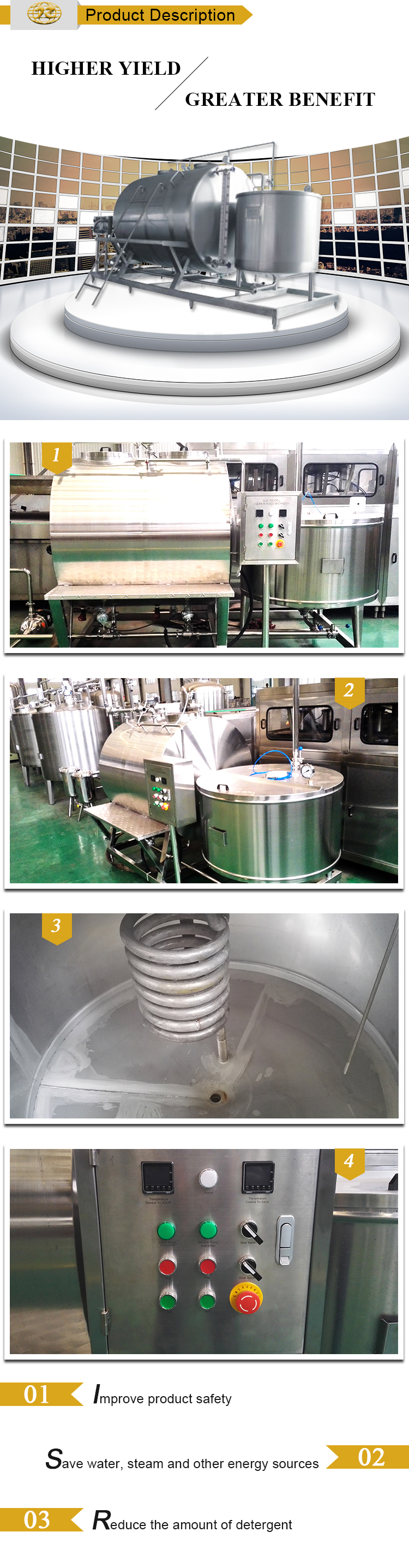 Manufacturer of high speed perfect semi-automatic cip cleaning system