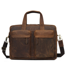 YD-8046 Full grain weekender vintage crazy horse leather briefcase man handbag , leather bag for men