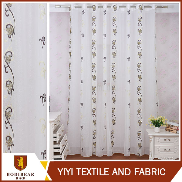 the classical jacquard curtain fabric polyester curtain sheer with very cheap price
