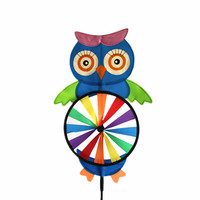 Owl Design Decoration Garden Spinner Wind