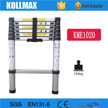 2.0m aluminum telescopic folding step ladder with EN131-6