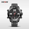 2015 WEIDE Hot Selling Solid Stainless Steel Brand Watches WH3405 Vogue LCD Chronograph Alibaba Express Watches Men