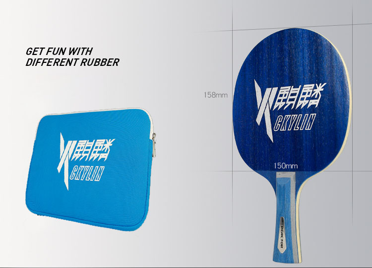 REACTOR 2016 Multi-carbon REACTOR ping pong blade: 7-ply