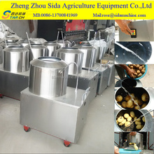 Stainless Steel Electric Potato Cassava Washing And Peeling Machine