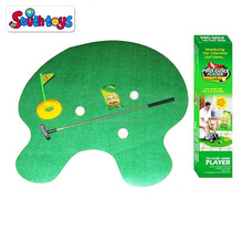 Toilet Golf Joke & Novelty Set - Putter Practice in the Bathroom Toy with this Potty Putter