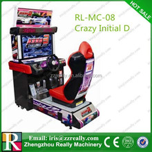 Car racing game machine Crazy Initial D game car racing