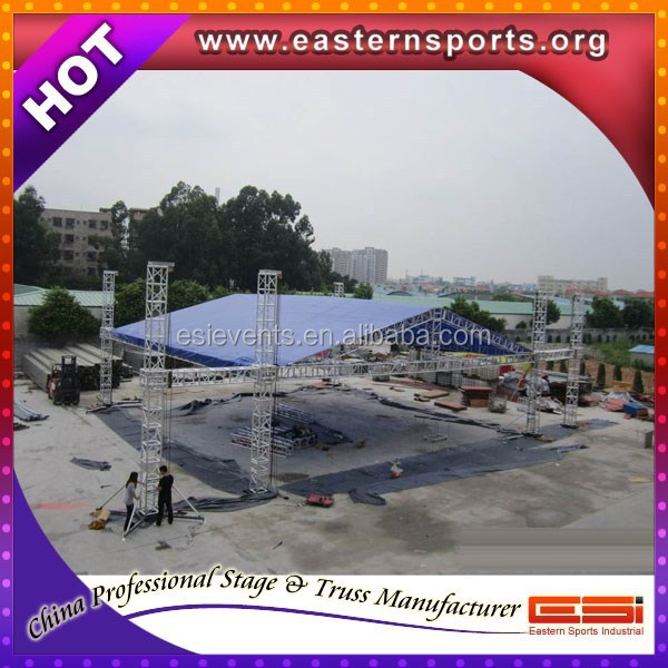 ESI special offer concert entertainment equipment Stage Steel Roof Truss With Stage Platform