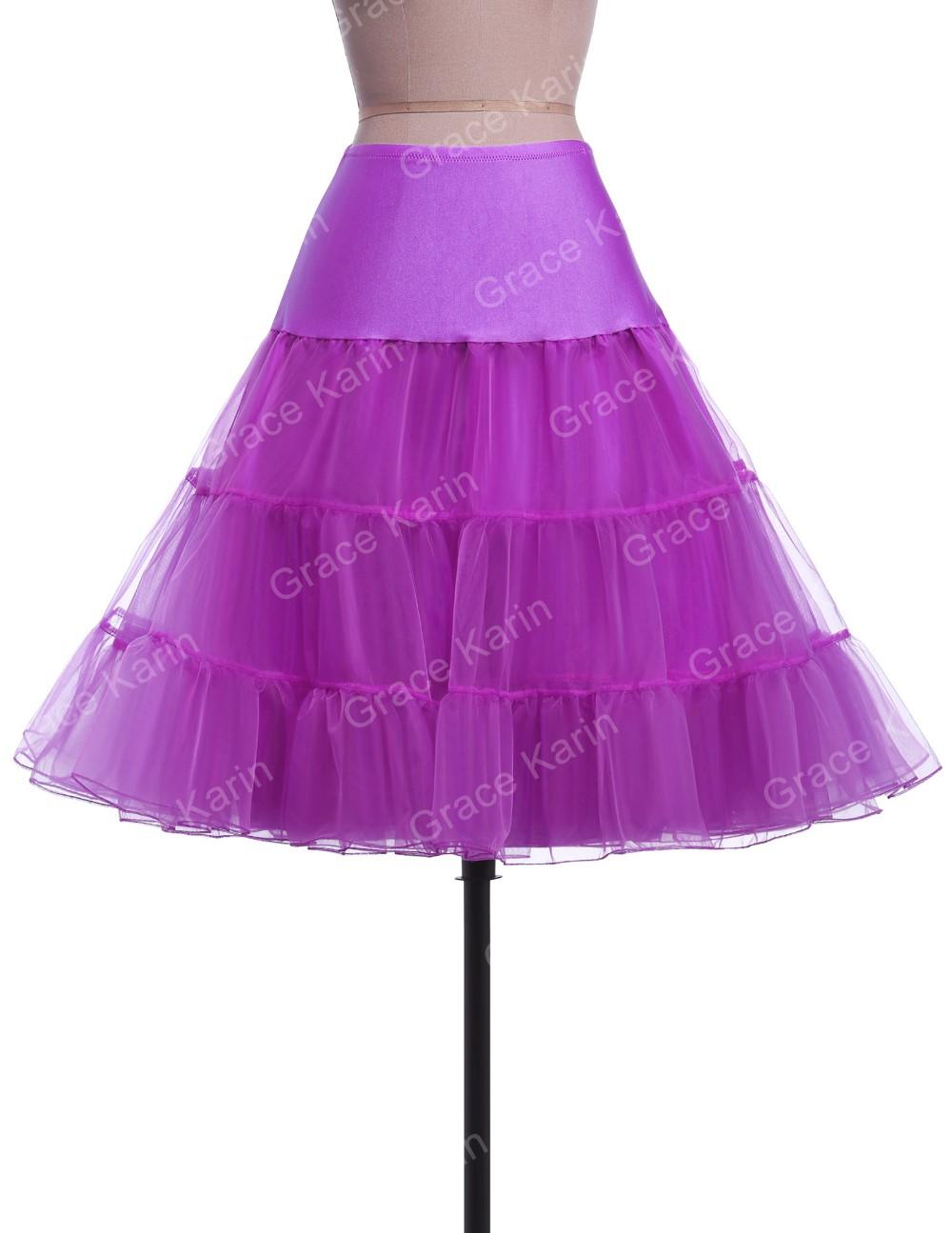 Gnade Karin Frauen A-linie Kurze Retro Kleid Vintage Krinoline ...
