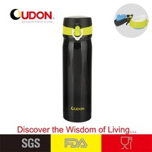 FDA approved mirror polished stainless steel insulted thermos bottle with cap lock