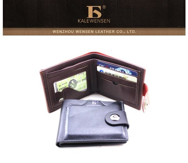 Business Men Casual PU Leather Wallet