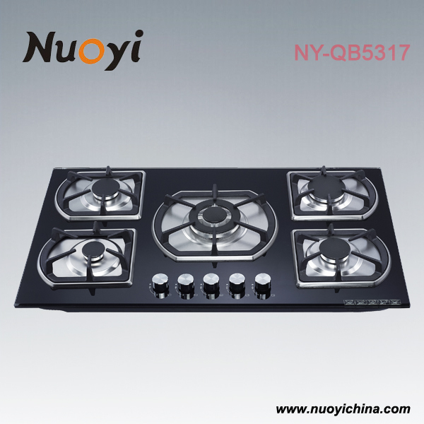 New design 5 Burners Gas Hob,Built-in Gas Cooker NY-QB5317