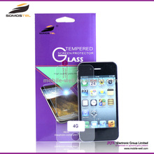 [Somostel] For apple iphone 4g 4s 5 5c 5s screen protector tempered glass ,for iphone 5s /5c/5/4s screen protector glass cover