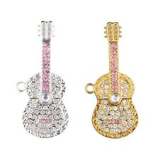 512 MB ~ 128 GB Grade A Plus Guitar Shaped Necklace Pendant Usb Flash Drive