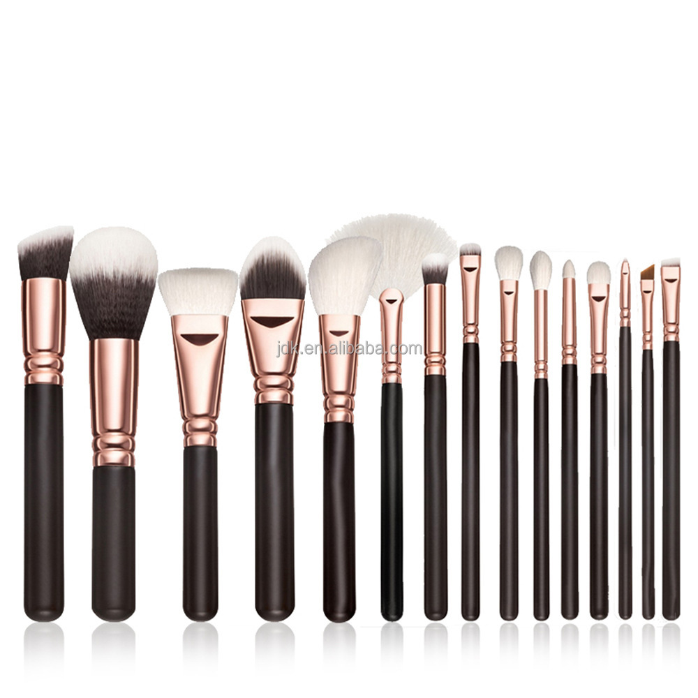 best selling products 15pcs cosmetic makeup kits pro rose gold make up brushes