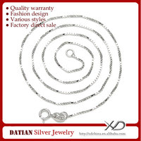 XD Y903 Box 925 Sterling Silver Chain Necklace Patterns for Sale