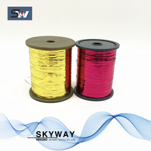 Metallic lurex yarn m type polyester lurex thread on bobbin for weaving