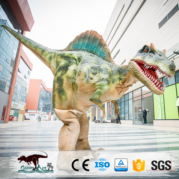 OA3446 Artificial Walking Dinosaur Costume Hidden Leg
