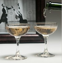 Haonai Cheers Champagne Glasses Fusion Deco Champagne Coupe Glasses Break-Resistance for serving martinis, sorbets and puddings