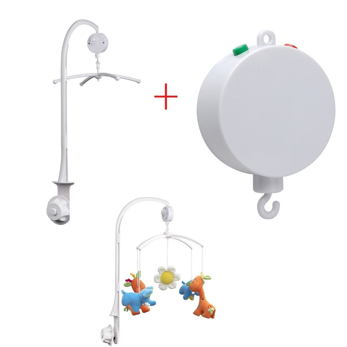 wind up auto music box baby mobile hanger baby horn toy. Black Bedroom Furniture Sets. Home Design Ideas