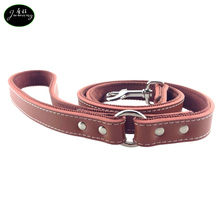 Supply Wholesales Making High-end Durable Soft Genuine Leather Firm Nylon Padding Pet Dog Leash for Dog Lead