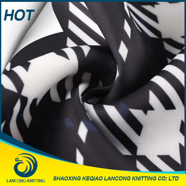 2016 LANCONG wholesale lentejuela custom printed scuba fabric for textile packaging material