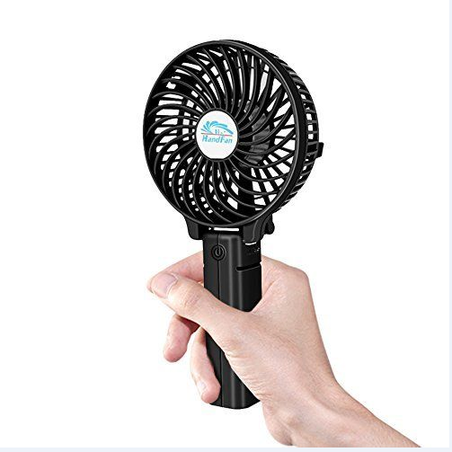 2016 creative mini portable folding usb standing fan with rechargeable li-ion battery