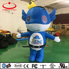 custom made inflatable mascot, inflatable promotion moving cartoon for advertising