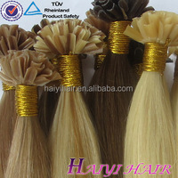 Factory supply remy virgin human hair pre bonded hair extension 100 cheap remy u tip hair extension wholesale