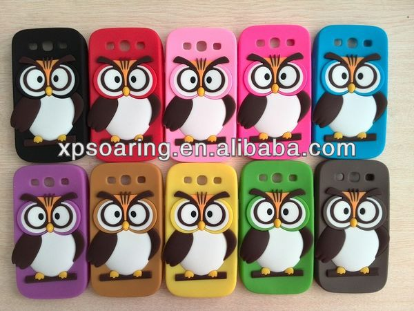 New Owl silicone case skin cover For Samsung Galaxy S3 i9300