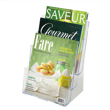 A6 plastic countertop booklet brochure stand paper holder