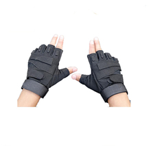 Military tactical police gloves with mirofiber made in china
