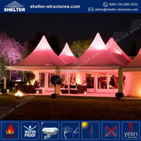 Maximum wind loading 100km/h(0.5kn/sqm) outdoor pvc nigeria africa wedding marquee event party pavillion tent rain cover tent