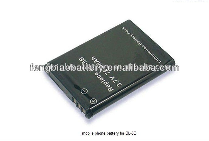 Rechargeable Mobile Phone battery for NOKIA BL-5B 3.7V 760mAh