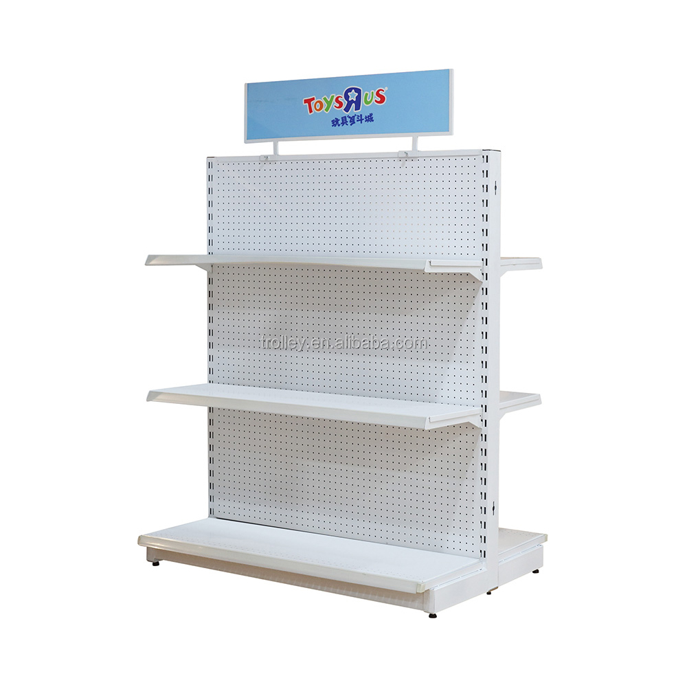 China supermarket supplies 3 layer metal shelf for sale