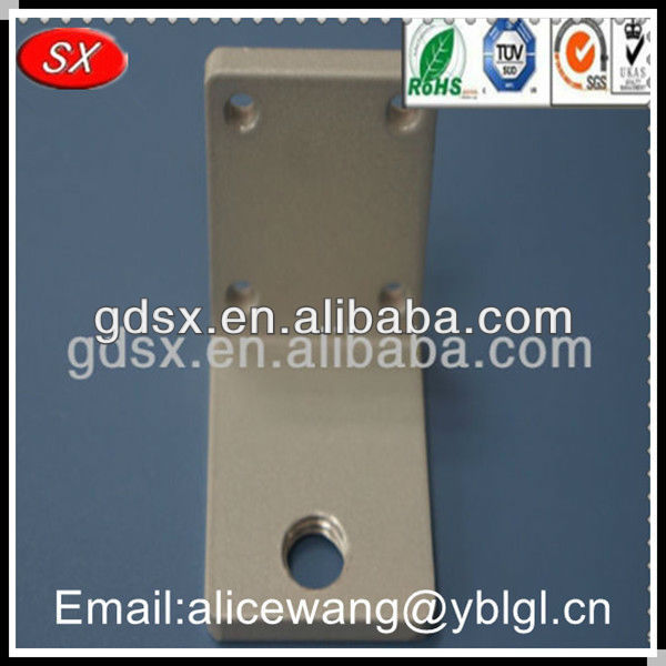 Custom wall mounting bracket,table leg brackets,l shaped metal bracket in Dongguan, ISO9001